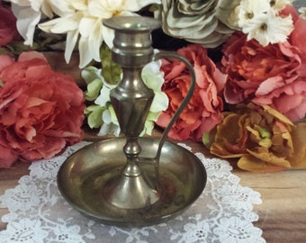 Vintage Brass Candle Stick, Brass Candle Holder