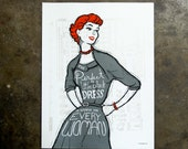 Little Black Dress - hand pulled screenprint poster