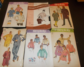 Inventory 103 Vintage Sewing Patterns this is a Lot of 6 size 42 & 44 mens