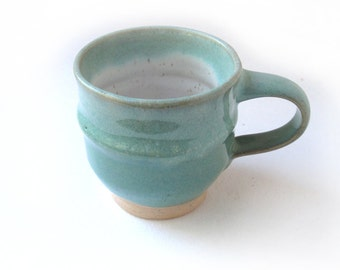 Speckled Green and White Coffee/Espresso Cup