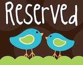 Reserved listing for R.