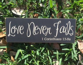 Love Is Patient Love Is Kind ~ 1 Corinthians 13 Sign ~ Love Is Patient Custom Wood Sign ~ Love Sign ~ Wedding Signs ~ Love Is Kind