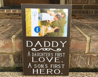 Daddy Gift ~ Gift For Step Dad ~Father's Day Gift For Dad ~Gift For Him ~Custom Dad Sign ~Daddy And Son ~Personalized Dad Gift