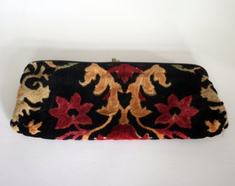vintage tapestry clutch bag purse