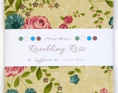 "Rambling Rose by Sandy Gervais for Moda - 100% Cotton - 42 / 5"" Square Charm Pack"