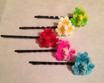Flower Bobby Pins Set of Five