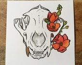 """Original: Medium Inked Skull """"Puma"""""""