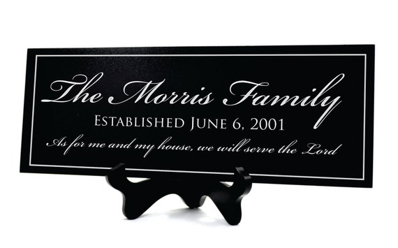 Family Name Sign Plaque Personalized Family Name Wood Sign 8x24