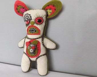Zombie Doll Voodoo Doll Horror Doll Bunny Rabbit