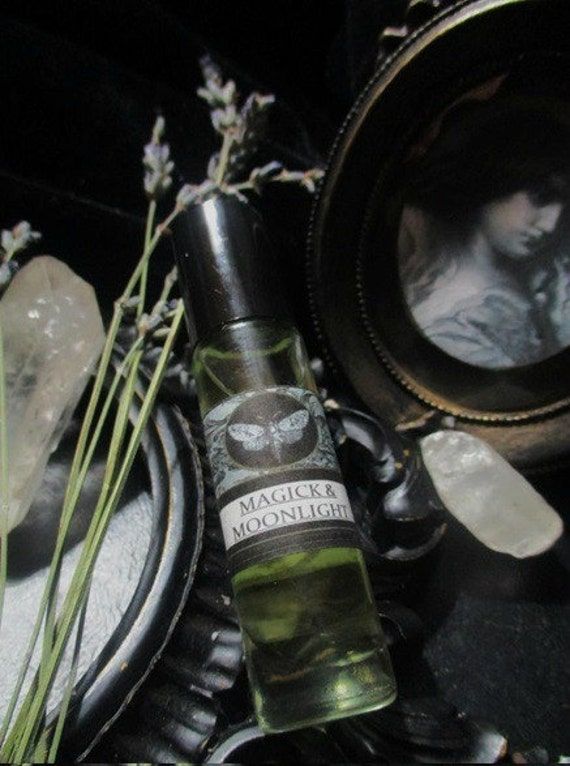 Magick and Moonlight Gypsy Perfume Body Oil  1/3 oz Roll on Lime,Coconut,Jasmine,Vanilla,Frankincense,Sandalwood, Almond,Lavende
