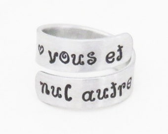 Vous et nul autre ring You and No Other ring - Relationship ring Promise ring - French love ring Commitment ring