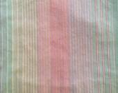 Vintage Twin Fitted Sheet - Striped - Wamsutta