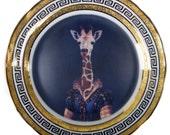 """Courtier Zarafa - Altered Vintage Plate 10.8"""""""