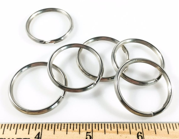 SPLIT KEY Rings Steel Nickel Plate 1 1/4 inch ID 75 pcs