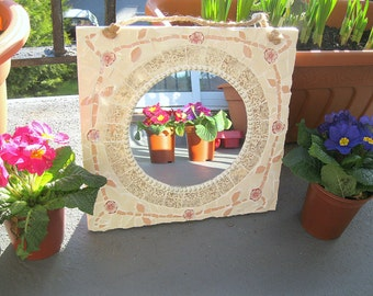 Shabby chic mosaic mirror - Free post to the UK!