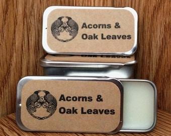 Acorns & Oak Leaves Solid Perfume Balm