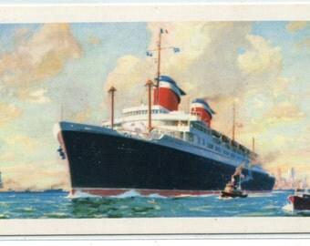 SS America Ocean Liner Cruise Ship postcard