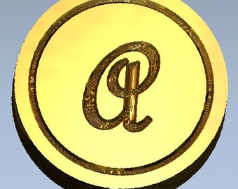French Script Initial Wax Seal Stamp