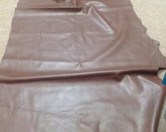 942RMNT.  Chocolate Brown Leather Elk Hide