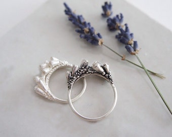 Lavender branches silver ring / AMARANTA Collection