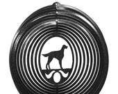 Gordon English Setter Dog Circle Swirly Metal Wind Spinner