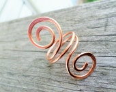 Ladies Open Swirl Ring Choose from Sterling Silver, Copper, Oxidized Copper or NuGold sizes 5-12