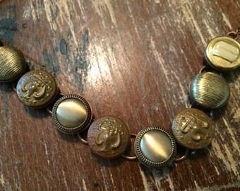 Antique Buttons #1 Bracelet