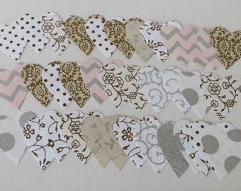 36 Handmade Paper Hearts Handcut Paper Craft Supplies