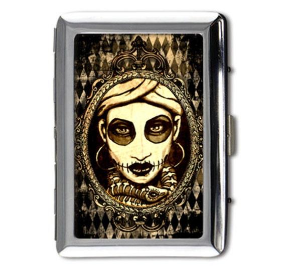 Marie laveau Money/card/cigarette case printed on both sides