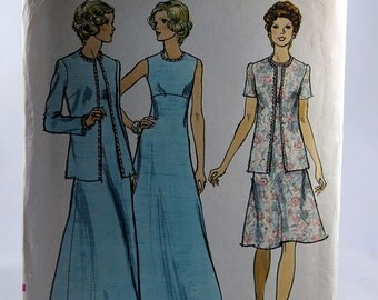 Vogue 8868, Misses' Jacket and Dress Pattern, Sewing Pattern, Size 14, Uncut