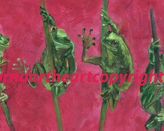 Frogs Print Of My Original Acrylic Painting