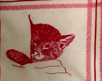 Chessie railroad cat scarf vintage