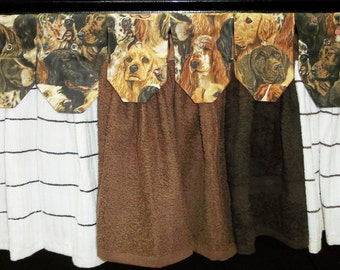 Hanging Kitchen Towels - Dogs and More Dogs