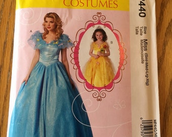 McCall's Cinderella Costume pattern MP440 Miss sizes (S M Lg XLg) new