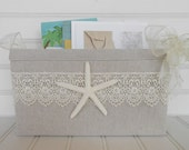 Coastal starfish card basket for weddings and special events