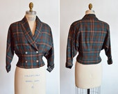 Vintage 1960s WOOL check jacket