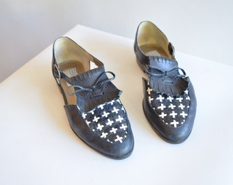 Vintage 1980s ESPRIT leather maryjane shoes / 7
