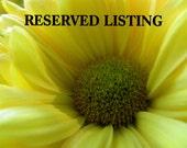 CUSTOM Reserved Listing for J. Francis