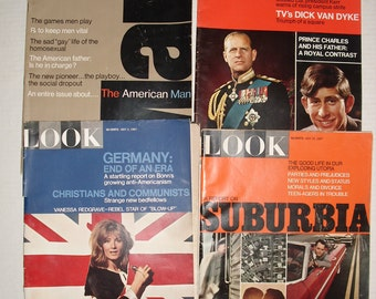 Four Look Magazines.  January 10, 1967.  April 18, 1967.  May 2, 1967.  May 16, 1967.
