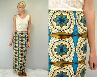 Hawaiian Skirt  //  70s Maxi Skirt  //  Boho Maxi Skirt  // THE PSYCHE