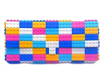 Multicolor candy clutch purse made with LEGO® bricks FREE SHIPPING purse handbag legobag trending fashion