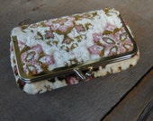 Velvet Chenille Cosmetic Bag Clutch Make up Pouch Vintage Wallet Style Accessory