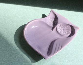 1970s Purple Owl Dish Japan