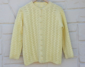 Vintage 50s-60s Women's Cardigan Sweater /Retro/ Mod /Mid Century/ Mad Men