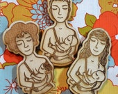 Breastfeeding Magnet - Babywearing Breastfeeding Wooden MAGNET -Three Styles to choose from
