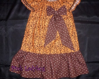 Peasant Style Dress Size 3 is READY TO SHIP