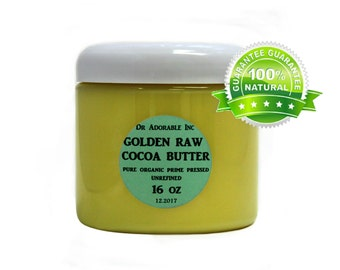 1 lb/16 OZ GOLDEN Cocoa Butter  Raw Pure Organic with Rich Chocolate Aroma