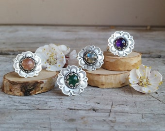 Large Wildflower Ring Made to Order