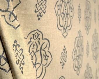 Fabricut Trend 03368 Pewter Grey Medallion Fabric