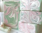 HONEYDEW PETALS Soap - with silk, milks, and aloe vera - handmade by Bonny Bubbles